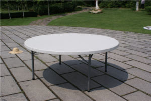 6 Foot Flash Furniture Round Plastic Folding Table