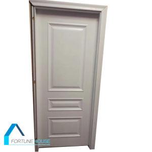 Cheap Polyurethane Foam Core Whithe Colour Wooden Molded Door pictures & photos