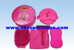 Microfiber Mitt, Wash Brush, Bucket, Car Cleaning Sponge Car Wash Sets Car Wash Equipment (CN1568) pictures & photos