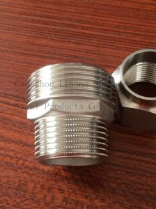 Stainless Steel Pipe Fittings Knurling Nipple From Casting pictures & photos