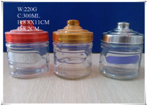 300ml Glass Canister for Coffee Sugar with Different Lids pictures & photos