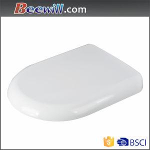 European Standard White Thermoset Soft Close Toilet Seat pictures & photos