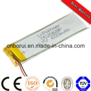 Rechargeable Pristmatic 520mAh 3.7V Lithium Ion Polymer Battery for Barcode Scanner pictures & photos
