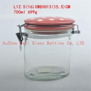 Glass Storage Jar Food Glass Jar 700ml