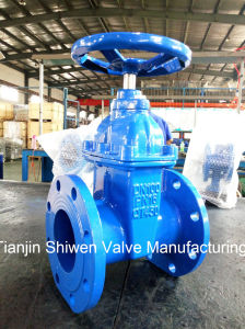 DIN F4 Non-Rising Stem Resilient Seat Gate Valve Pn16 pictures & photos