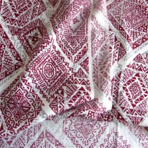 Plain Woven Man-Made Cotton Fabric Printed Lady Dress Fabric pictures & photos