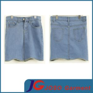 Wholesale Ladies Short Jean Skirt (JC2050) pictures & photos