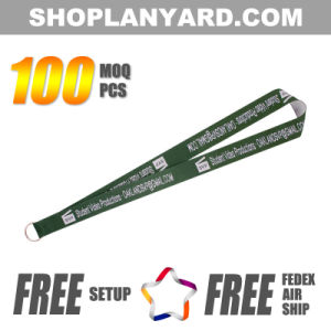 1 Inch Promotional Woven Neck Strap with Custom Logo