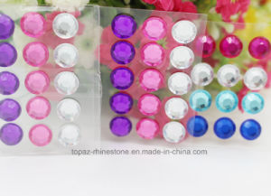 6mm Self Stick 3D Clear Crystal Epoxy Stickers Color Crystal Sticker (TS-540) pictures & photos
