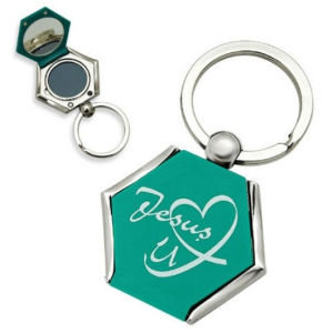 2014 Custom Metal Keychain with Mirror (M-100) pictures & photos