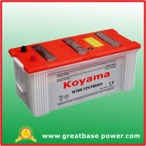 N180 Industrial Batteries Tank Battery Dry Cell Auto Battery 180ah 12V pictures & photos