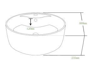 Supply Hot Sale Cupc Ceramic Round Art Bathroom Basin (SN103) pictures & photos