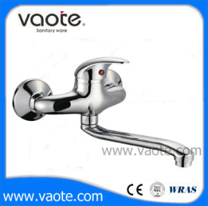 Brass Body Chrome Plated Wall Sink Faucet /Mixer (VT12802) pictures & photos