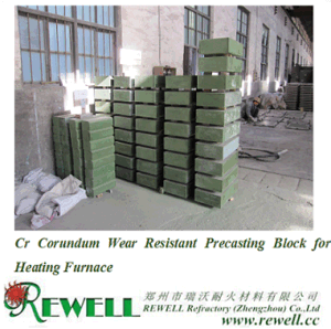 Corundum Wear Resistant Precasting Block for Heating Furnace pictures & photos