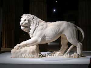 White Marble Door Lions (MAM-002) pictures & photos