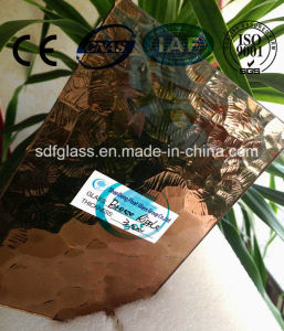 Bronze Ripple Patterned Glass with CE, ISO (3-8mm)