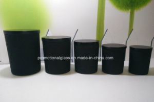 Gy8090 Black Glass Candle Holder pictures & photos