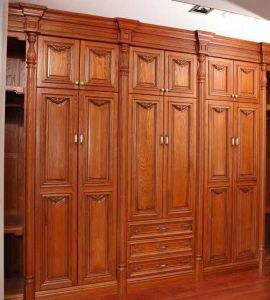 Antique Solid Wood Wardrobe 6 Doors From China pictures & photos