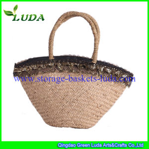 Luda 2015 Lace Seagrass Straw Beach Bag