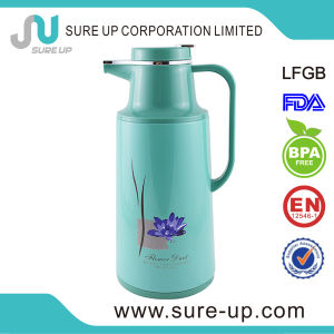 Green Beautiful Glass Inner Vacuum Flask Coffee Tea Jug (JGGI) pictures & photos