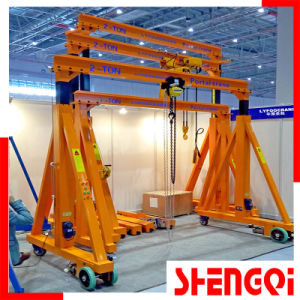 Trackless Wheel Manual Gantry Crane 500kg, 1000kg, 2t, 3t, 5t pictures & photos