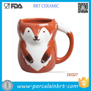 Wholesale Red Fox Shape Ceramic Water Cup pictures & photos