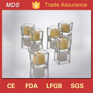 Wholesale Price Wedding Squared Clear Glass Candle Holder pictures & photos