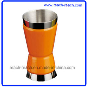 Stainless Steel Wine Cup/Jigger Match Hip Flask (R-HF011) pictures & photos