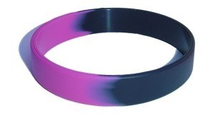 Fashion Segment Logo Silicone Wristband for Promotion pictures & photos
