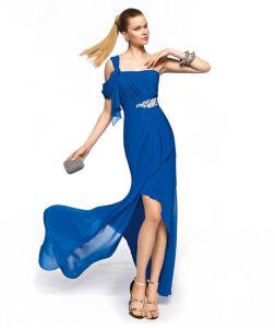 Blue Elegant Bodr Slimming Long Evening Dress