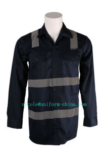 Cheap and High Quality Mens Navy Flame Resistant Mining Shirt Workwear pictures & photos