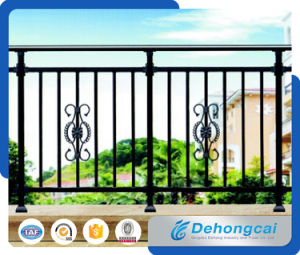 Galvanized Faux Wrought Iron Balcony Fence with Power Coated pictures & photos