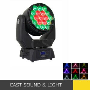 Cheap RGBW LED Wash Zoom Moving Light 19X12W pictures & photos