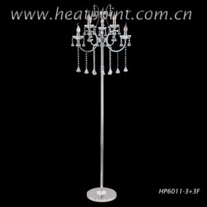 Modern Luxury Crystal Floor Lamp with Dimmer Switch