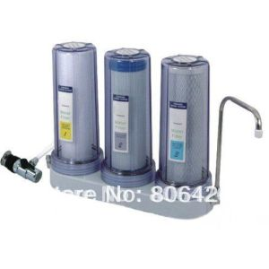 3 Stages Water Filter System with Universal Tap Water Valve Connector to Wippe off Chemicals and Odors pictures & photos