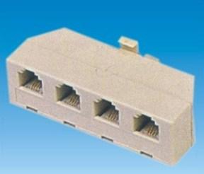 4-Way Telephone Plug Adaptor (P-010) pictures & photos