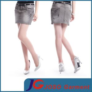 Ladies Denim Short Pencil Skirts (JC2105) pictures & photos