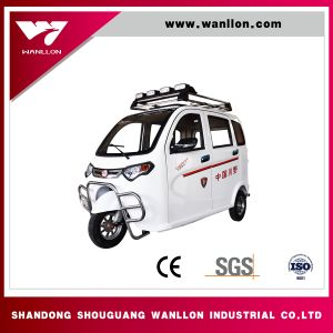 Safe and Stability Electric Three Wheel Passenger Tricycle pictures & photos