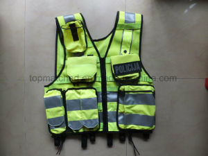 High Quality En471 Traffic Police Reflective Security Vest pictures & photos