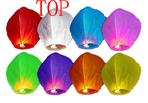 Online Fire Biodegradable Colored Skylantern Flying Wedding Chinese Paper Lanterns pictures & photos
