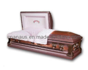 US Style Solid Copper Casket (14H4002) pictures & photos