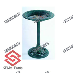 Traditional Plastic Garden Pedestal Bird Bath