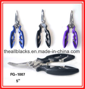 Stainless Steel Pliers; Multi Function Fishing Lure Curved Mouth Pliers-Fishing Tackles Fg-1007