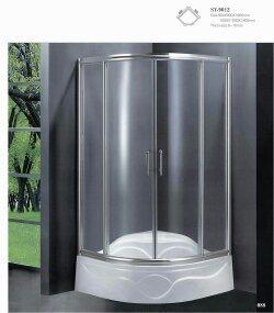 Popular Simple Frameless Hinge Aluminum Shower Room (Wg-9012)