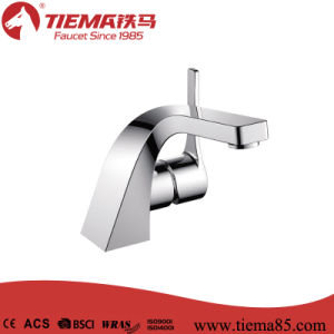 2015 New Design Deck Mounted Brass Basin Faucet (ZS80103) pictures & photos