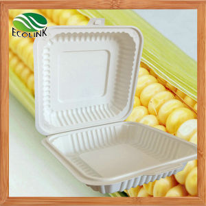 Disposable Biodegradable Cutlery Lunch Box 1000ml pictures & photos