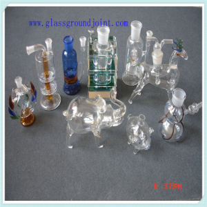 Clear Borosilicate Glass Skirted Cone Socket Adapter for Hookah pictures & photos