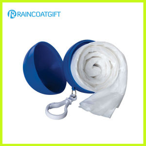 Disposable PE Raincoat in Plastic Ball Rpe-035 pictures & photos