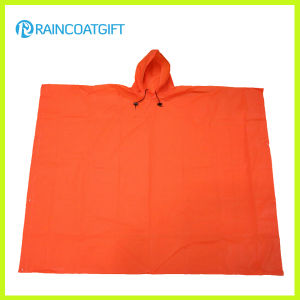 Waterproof Reusable Plain PVC Rain Poncho pictures & photos