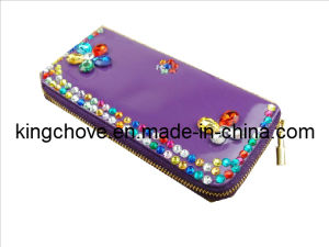 Fashion Purple PU Wallet with Beaded / Fashion Wallets (KCW24) pictures & photos